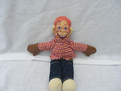 """Vintage Howdy Doody Doll Stuffed Toy 10 1/2"""" Three Cheers Applause"""