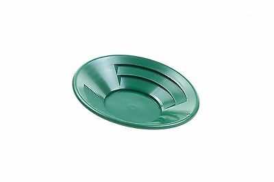 SE GP1012G10 10-Inch Green Gold Pan Plastic Body Dual Riffles