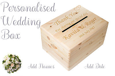 Wedding card post box Wishing Well for Cards ADD NAMES AND DATE