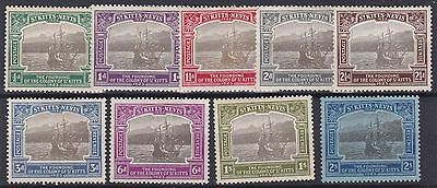 St Kitts 1923   S G  48 - 57  Var Values To 2/-   Mh  C £100 2/- Has Gum Crease