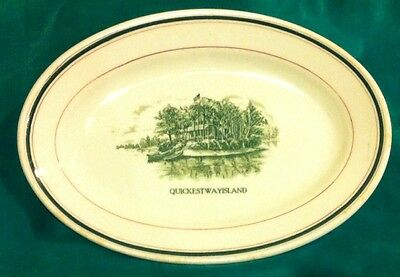 Quickest way island plate John Addock & Sons England vitrified