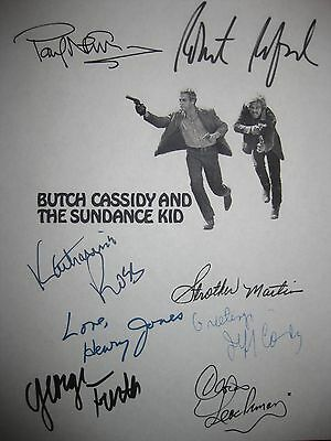 Butch Cassidy and the Sundance Kid Signed Script Paul Newman Robert Redford rpnt