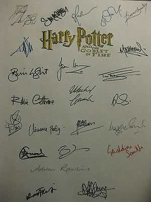 Harry Potter and the Goblet of Fire signed Script x23 Daniel Radcliffe Watson rp