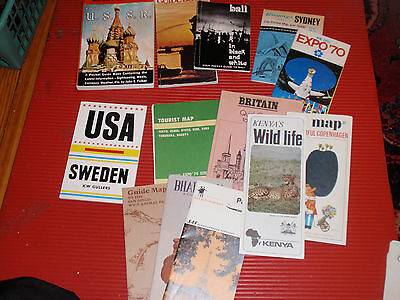 Vintage Lot Of International Cities  Countries Guides And Travel  Brochures Ussr