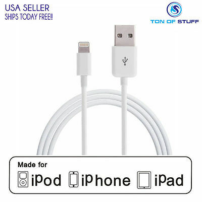 100x Original Apple iPhone OEM 7 6 5 8pin Lightning USB Compatible Charger Cable