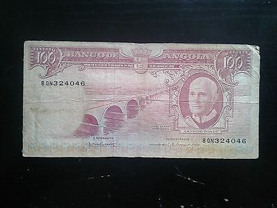 Angola 100 Escudos 1962, Circulated Banknote