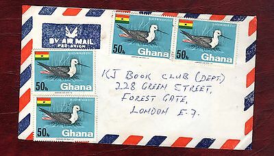 GHANA STAMPS-Black winged stilt 50np, cover to UK, 1969