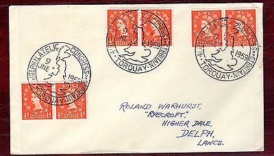 GREAT BRITAIN STAMPS- Commemorative cover on Philatelic Congress Torquay 1959
