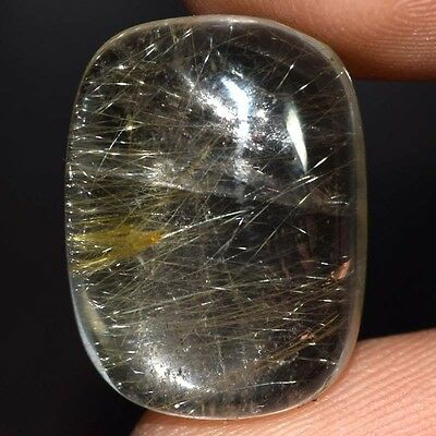 15.45 Cts Nice 100% Natural Golden Rutile 19X14X6 mm  Loose Cabochon Gemstone