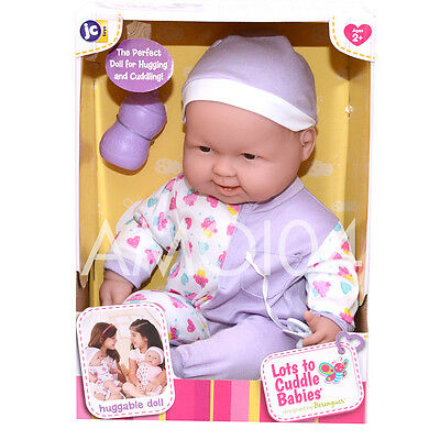 Berenguer Large Baby Doll Lots to Cuddle Babies 47cm Hugging & Cuddling - Purple
