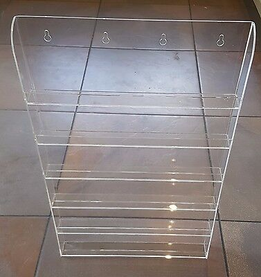 Brand New 6 Clear Acrylic Hanging Shelf Display For Nail Varnish, Cosmetics