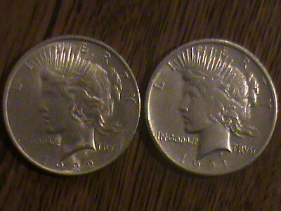 1921 Silver Peace Dollar High Relief Key Date MS Type Gem Morgan 1922 BU LUSTER