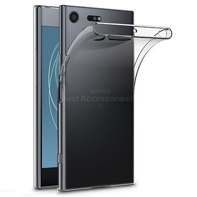 Gel Case and Tempered Glass Screen Protector For Sony Xperia XZ Premium Clear