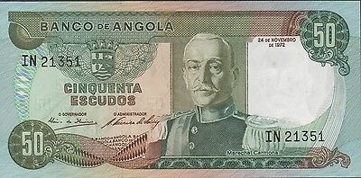 Angola , 50 Escudos , 24.11.1972 , P 100 , Prefix IN , New