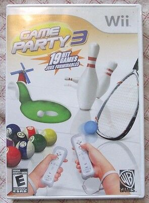 Nintendo Wii Game Party 3 (Manual, box and game)