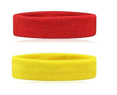 Two Headbands Running Sports Gym Yoga Badminton Tennis Ultra Comfy and Durable
