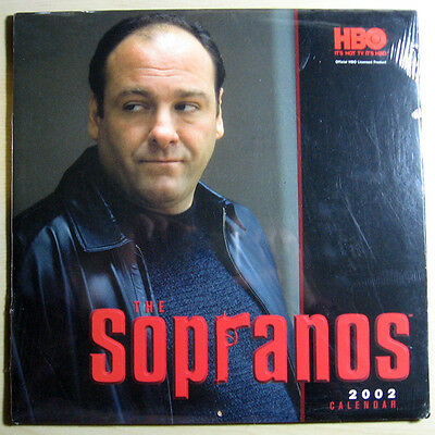 HBO 2002  -  THE SOPRANOS - 13 MONTH CALENDAR - James Gandolfini