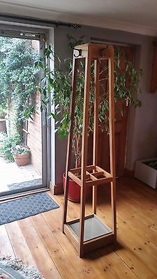 Vintage Oak Coat, Hat, Boot, Shoe & Umbrella Hall Stand