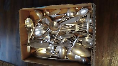 vintage silver-plate lot of 53 pieces