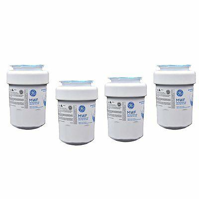 4 PACK GENUINE GE MWF SmartWater Replacement Water Filter Cartridge Refrigerator