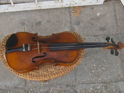 Rare Antique 3/4 German Stradivarius copy violin , MARKED 1900-1920