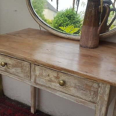 Small old pine vintage table distressed, hallway, occasional, console table