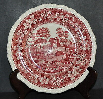 """Vintage Copeland """"spodes Tower"""" England-Pink/red ***luncheon Plate(S)***"""
