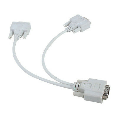 Video Monitor VGA and Splitter Cable 1 Male to 2 Female Video Splitter Cabl G2L3