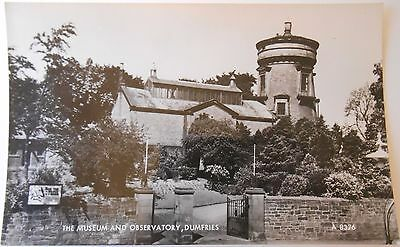 Vintage RP Postcard The Museum And Observatory Dumfries Scotland