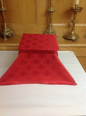 Red Chalice Veil and Burse Chasuble Vestment
