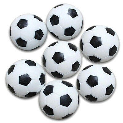 5x Plastic 32mm Soccer Indoor Table Football Ball Replace Black+white Y2Z3