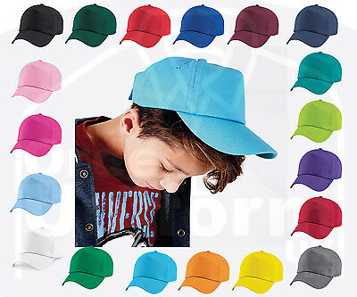 ORIGINAL 5 PANEL BASEBALL CHILDS CAP, Beechfield Plain Cotton Twill - 19 COLOURS