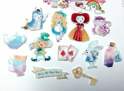 Exclusive Flatback Resin Alice in wonderland Character Cabochons Decoden Crafts