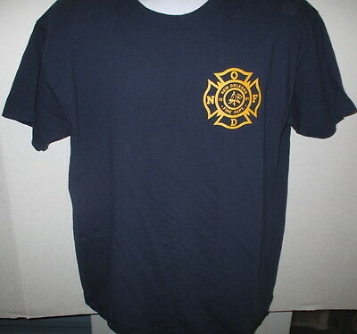 New Orleans Fire Department T-shirt, Navy Blue, S/S, Large