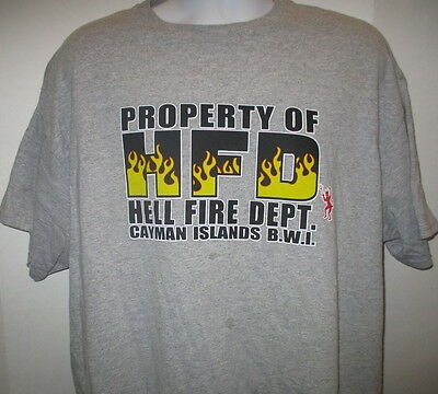 Property of Hell Fire Department T-shirt, Ash Gray, S/S, 2XL, Cayman Islands