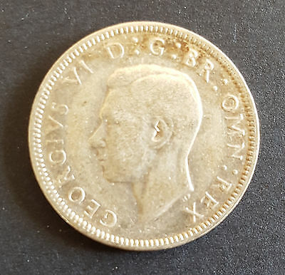1939 UK Silver Coin One Shilling - George VI