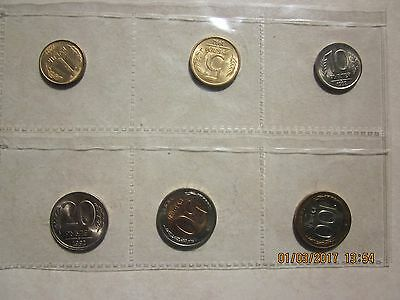 Russia Russian 1992 Uncirculated 6 coin set ruble kopeck Former USSR