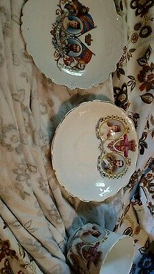 3 pieces 1911 King George V Queen Mary Coronation Australia plate, teacup/saucer