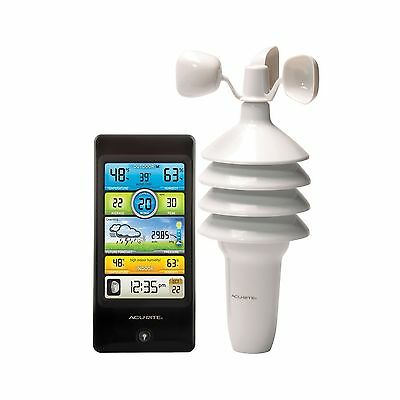 AcuRite 01604 Pro Color Digital Weather Station with Wind Speed Temperature a...