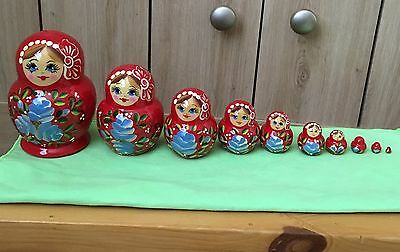 Non Traditional  Katyusha Semenov  10 Piece Set. Matryoshka Russian Nesting Doll