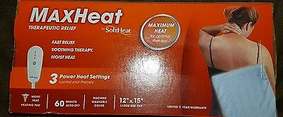 "Maxheat Therapeutic Relief, 3 Power Heat Settings, 12"" x 15"""
