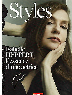 Lot Coupures Presse Clipping+ couv mag 2015 - ISABELLE HUPPERT  8 pages