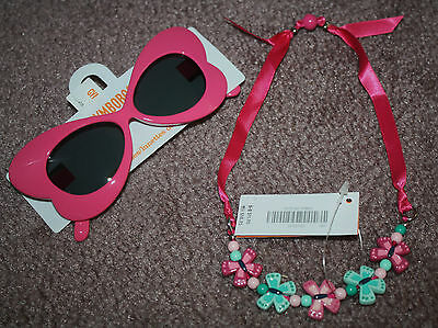 NWT Gymboree Girl's Butterfly Necklace & Sunglasses SET