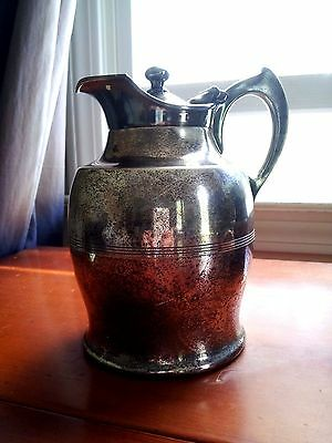 Antique Hotel Restaurant Pitcher Hotakold Patented 1909 Bowman Manning Conn.