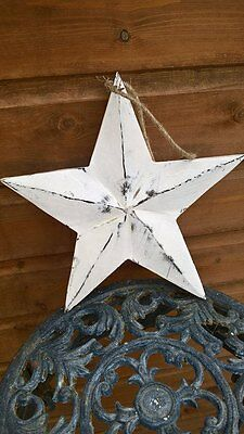 Rustic Hanging Star White Washed Shabby Style Chic Bang On Trend Home Decor