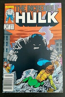 Incredible Hulk #333 (1987 Marvel) *leader Appearance* Vf+/nm-