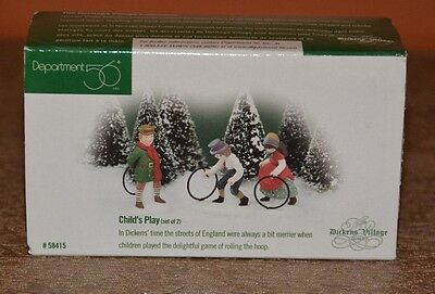 Dept 56 ~ Dickens Village ~ Child's Play ~ #58415 ~ Set of 2