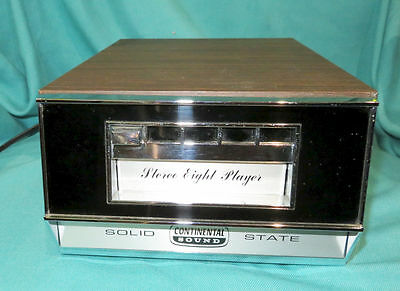 Solid State Continental Sound Stereo Eight Player TD-400 VINTAGE 8-Track Works