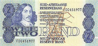 South Africa  2 Rand  ND.1983  P 118d Series FD Uncirculated Banknote AF0517jK