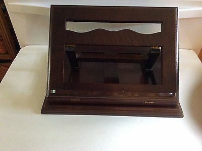Rare Bombay Company Wooden Book Music Bible Dictionary Swivel Desktop Stand